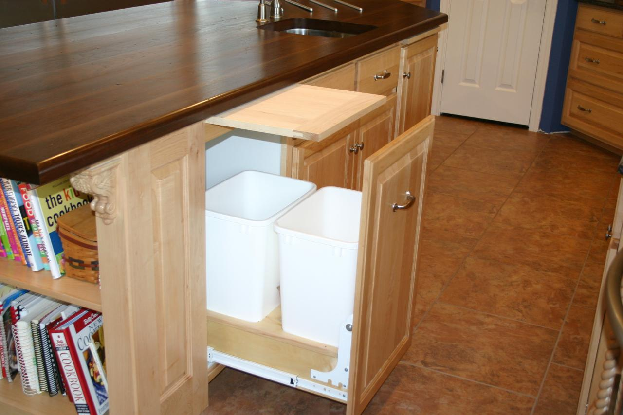 Pull Out Drawer With Garbage Cans ...